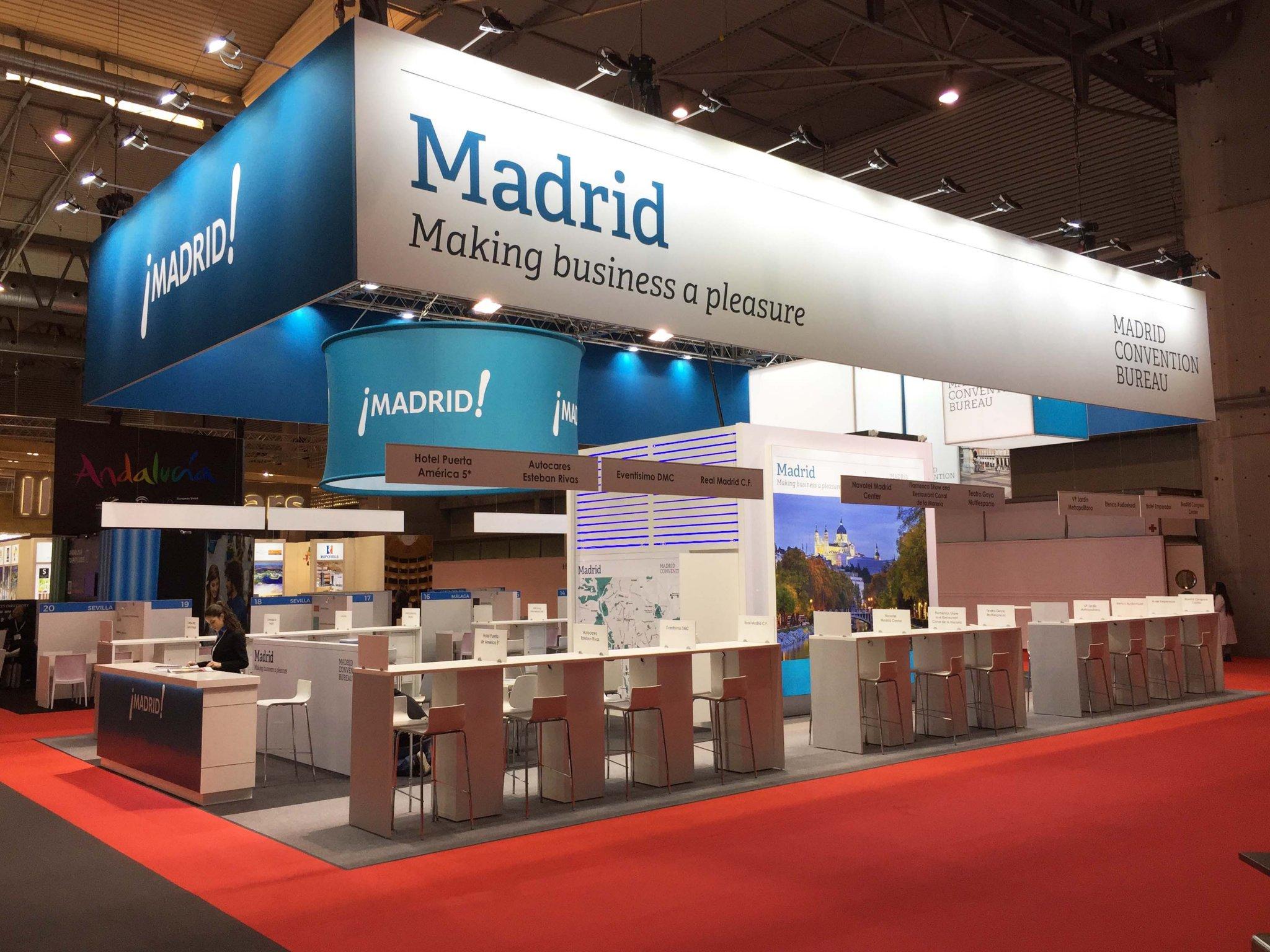 Stand Madrid Convention 3 - Stand Feria EIBTM (Barcelona)