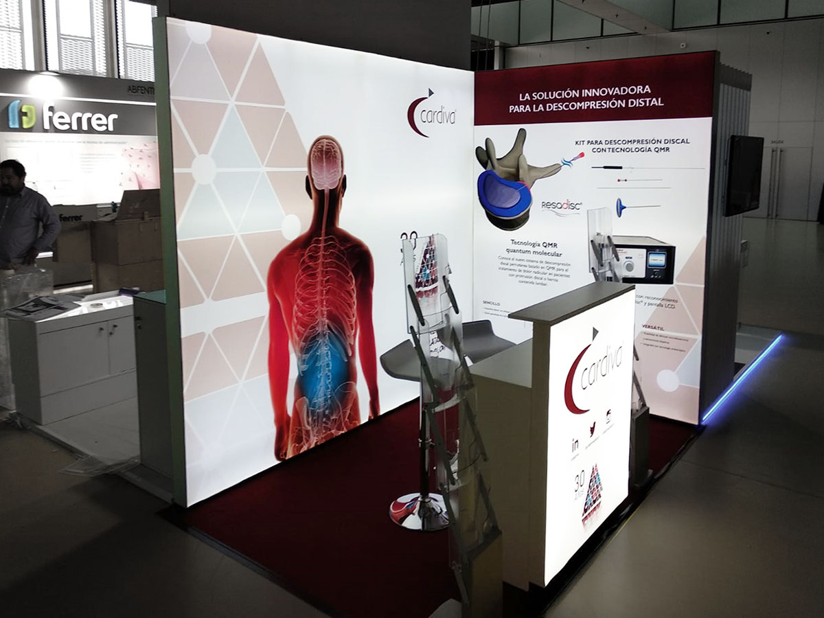 cardiva stand 1 - Stands for Medical and Pharmaceutical Congresses