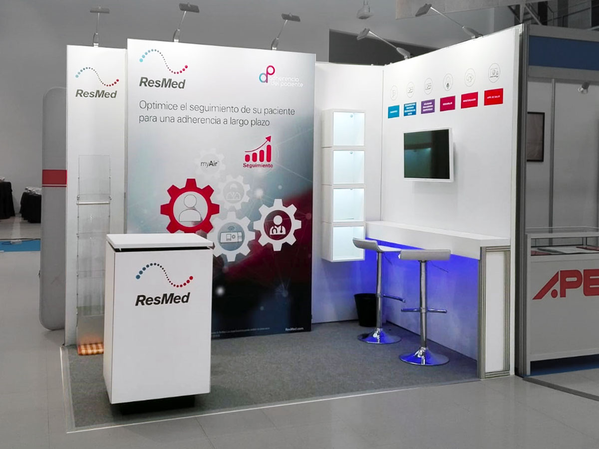 resmed stand 1 - Stands for Medical and Pharmaceutical Congresses