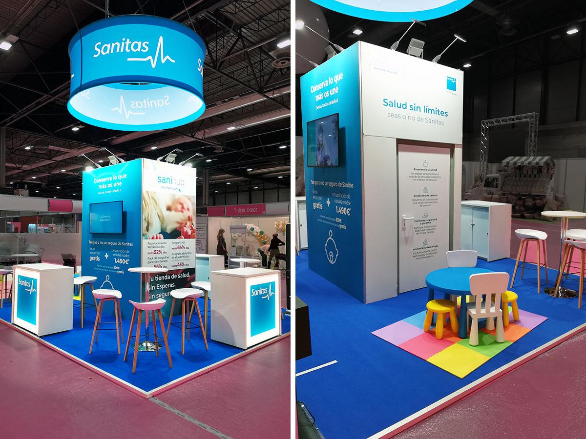 sanitas 1 - Stand Bebés y Mamás Trade Show (Madrid, Spain)