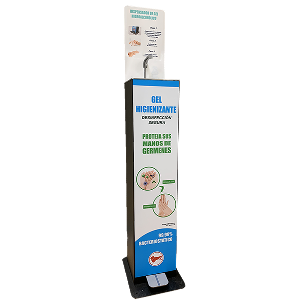 dispensador de gel  trasnpsmall - Dispensadores de Gel Hidroalcohólico. COVID-19